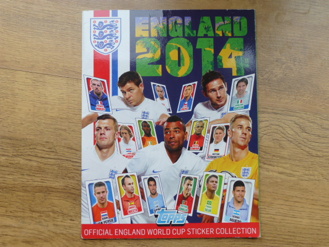 Topps England 2016 Incomplete Album