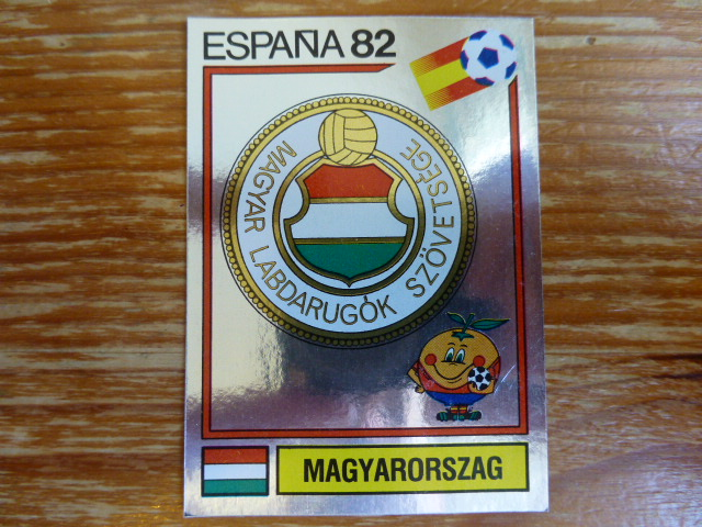 Panini Espana 82 Badge - Hungary (1)