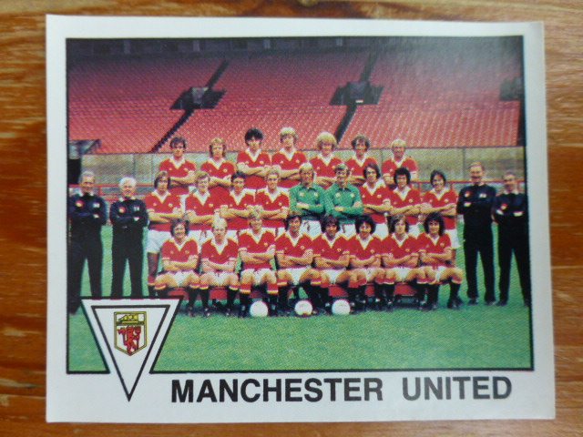 Panini Football 80 Sticker - Man Utd Team