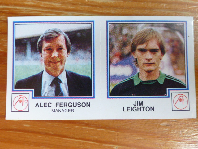Panini Football 83 Sticker - Alec Ferguson/Jim Leighton