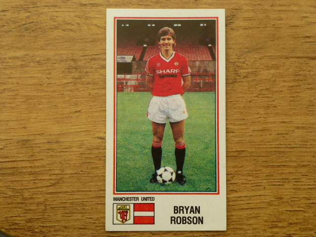 Panini Football 83 Sticker - Bryan Robson