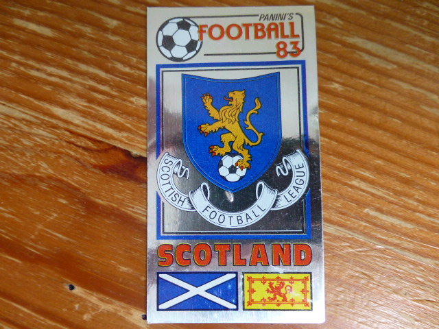 Panini Football 83 Badge - The Scottish Football League