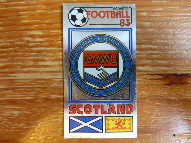 Panini Football 83 Badge - The Scottish Players Football Association