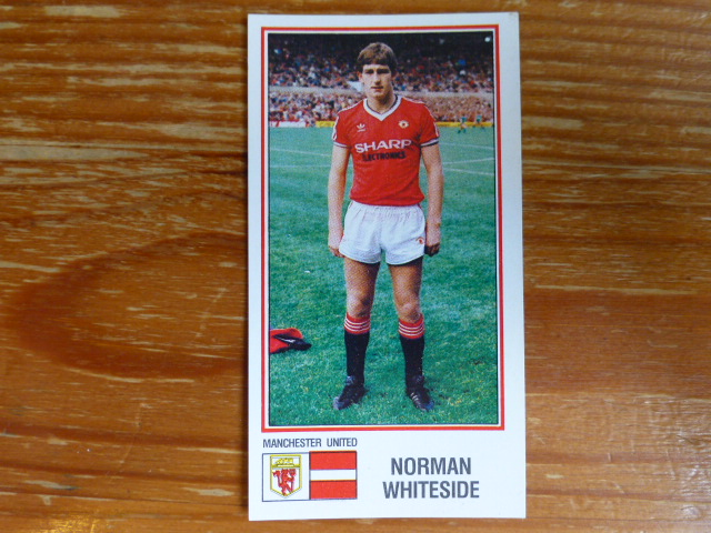Panini Football 83 Sticker - Norman Whiteside