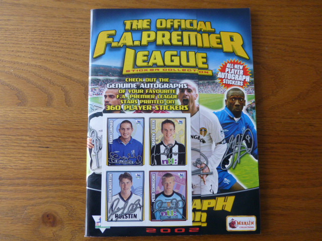 Merlin Premier League 2002 Empty Sticker Album (01)