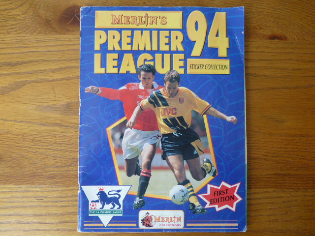 Merlin Premier League 94 Complete Sticker Album (01)