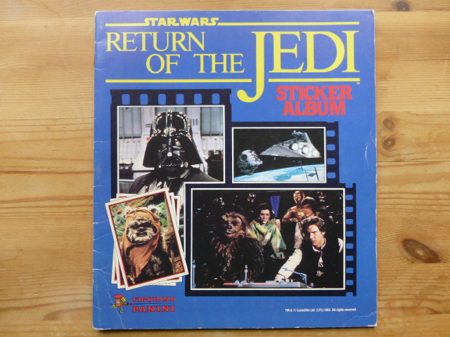 Panini Return Of The Jedi - Empty Album (01)