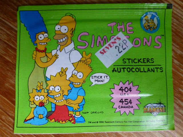 Diamond/Euroflash The Simpsons Sticker Pack