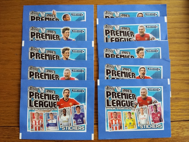 Topps Premier League 2013 Sticker Packs